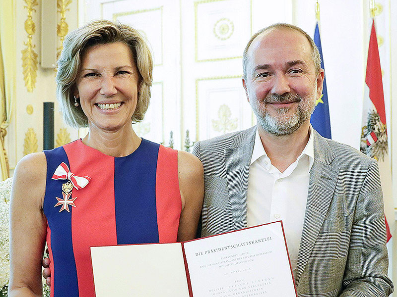 Desiree Treichl-Stürgkh und Thomas Drozda