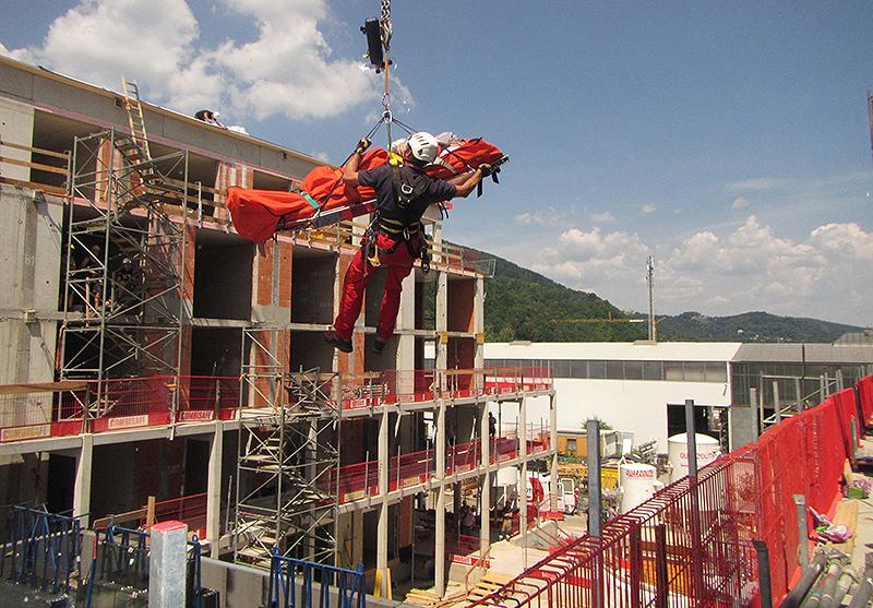 Bauarbeiter gerettet