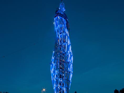 Pyramidenkogel Jedvovca stolp razgledni luč osvetljava