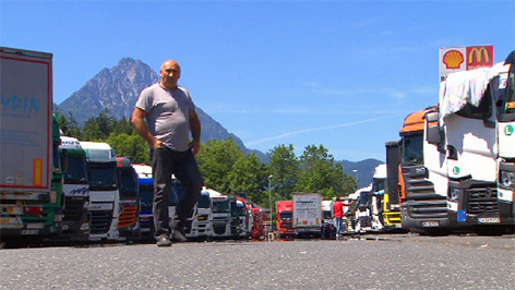 Frächter Walserberg Fernfahrer Fernverkehr Lkw Lastwagen Trucker