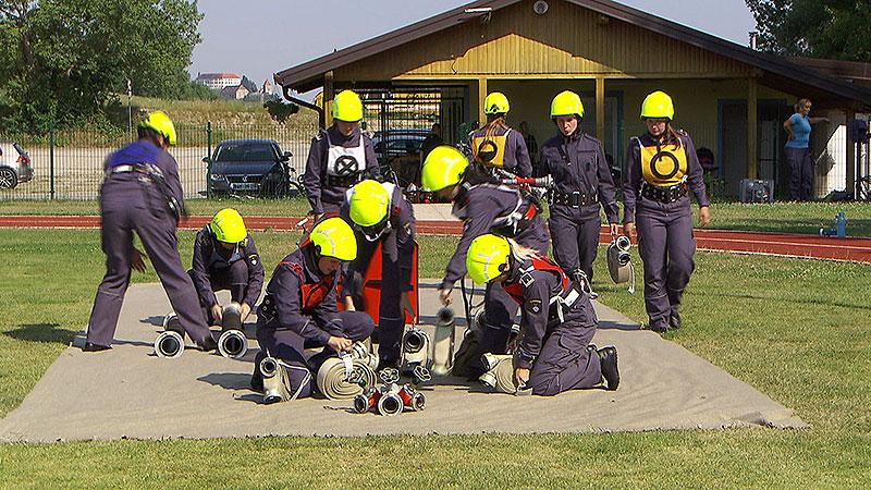 Slowenien Training Villach Feuerwehrwettbewerbe