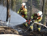 Waldbrand-Übung