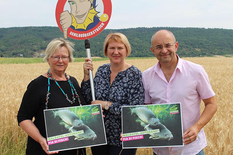 Christa Eckhard (Die Grünen Horn), Helga Krismer (Die Grünen NÖ), Walter Kogler (Die Grünen Horn)