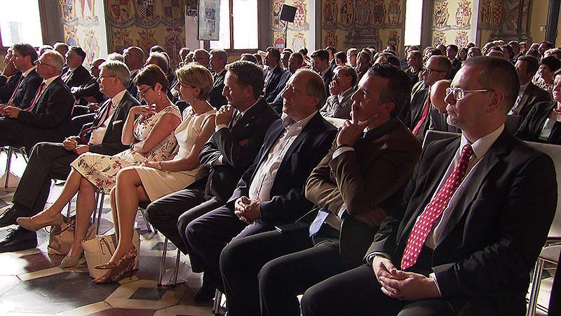 Feier 20 Jahre Landesrechnungshof Wappensaal Jubiläum