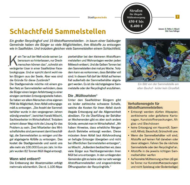 Müllproblem Saalfelden