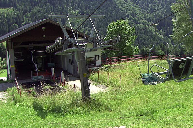 Sessellift Talstation in Gaißau im Sommer