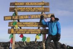 Helmut Steigersdorfer am Kilimanscharo