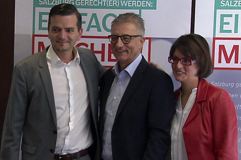 Das SPÖ Team für den Landtagswahlkampf 2018: Gerald Forcher, Walter Steidl und Stefanie Mösl (v.l.n.r.)