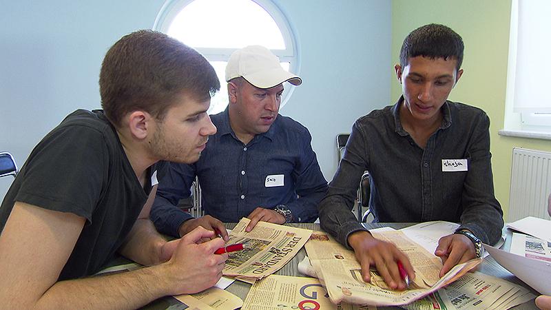 Zeitungs-Workshop für Asylwerber