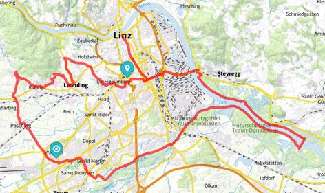 Radtour: Linzer Zentralraum-Route