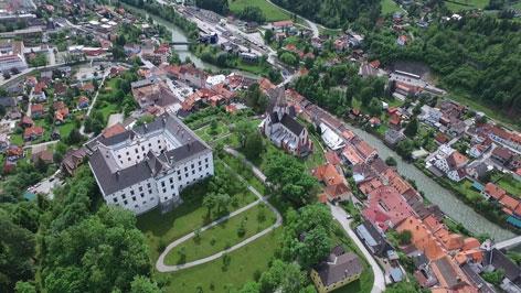 Ansicht Schloss Murau, Ausstellung 400 Jahre Schwarzenberg