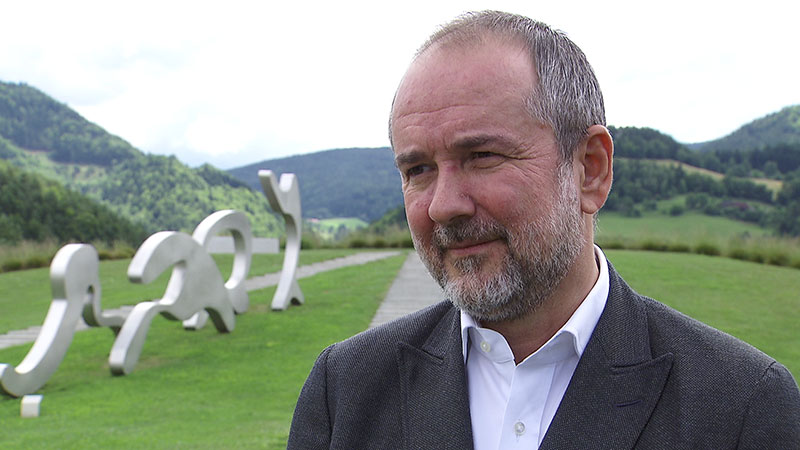 Kulturminister Drozda zu Besuch im Liaunig Museum