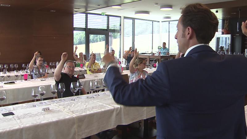 Abstimmung bei Weinverkostung