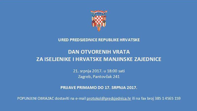 dan otvorenih vrat predsjednica RH Kolinda Grabar-Kitarović
