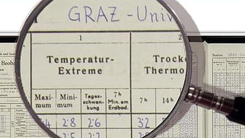Klimadaten für Graz online abrufbar