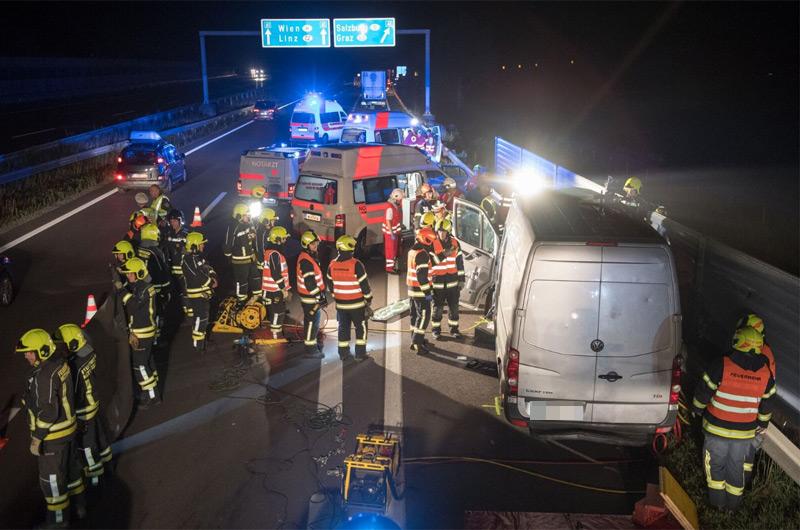 Tödlicher Unfall auf der A25