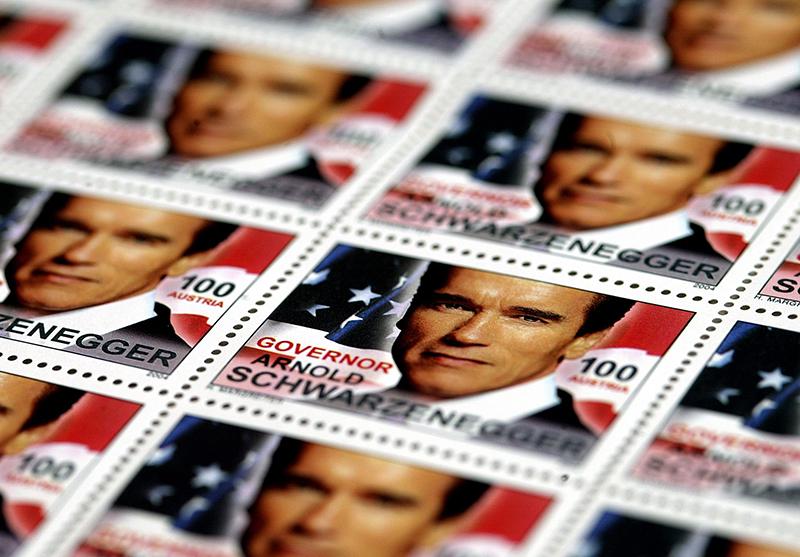 Ehren-Briefmarke für Schwarzenegger