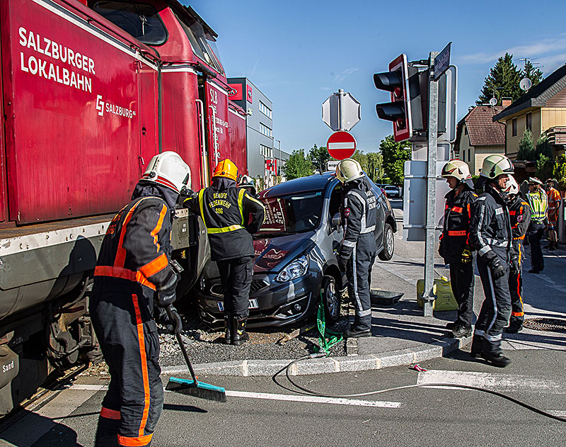 Unfall am Stiegl-Gleis