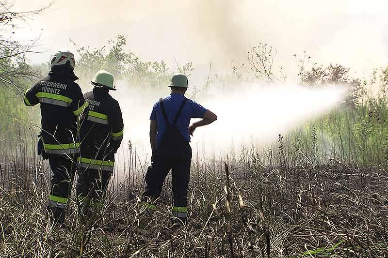Böschungsbrände Bahnstrecke Villach