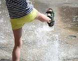 Kind Wasser Hitze Sommer