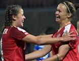 Laura Feiersinger und Sarah Zadrazil bei Damen EURO