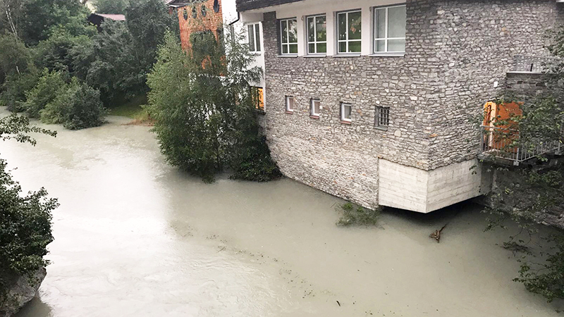 Überflutung Pians
