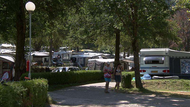Campingplatz Wohnwagen Camper