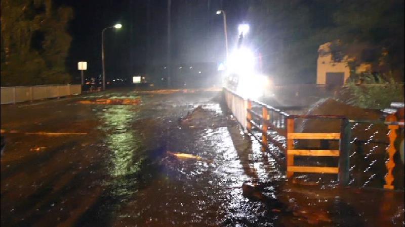 Oberwölz überschwemmt Feuerwehr