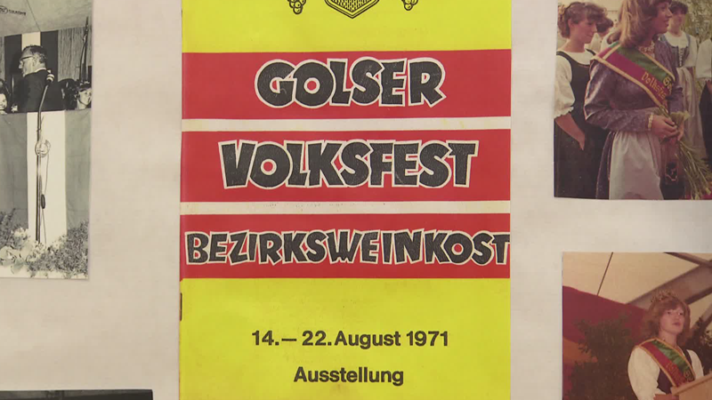 Altes Plakat Golser Volksfest