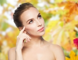 Frau Herbst Blätter