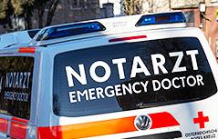 Notarzt des Roten Kreuzes