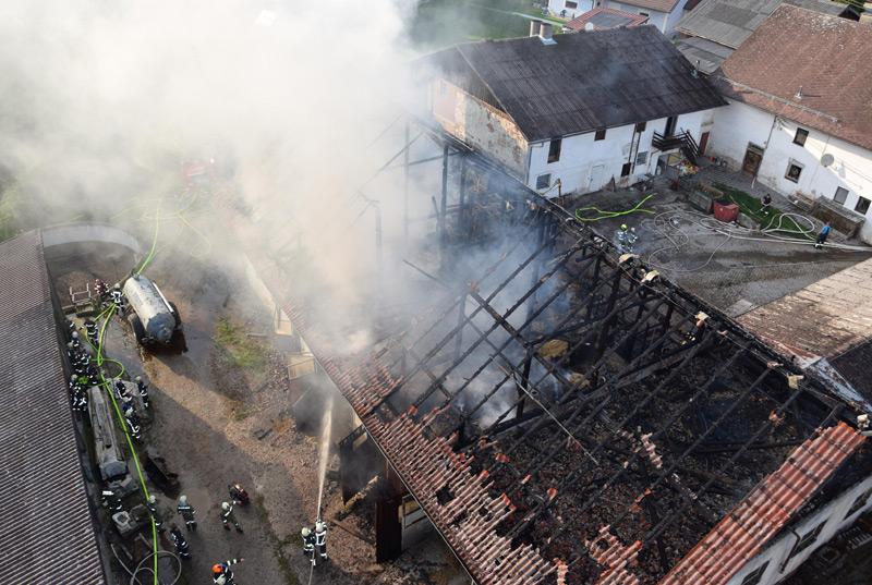 Bauernhofbrand in St. Willibald