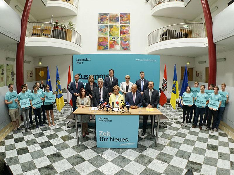 ÖVP Landesliste NR-Wahl Präsentation