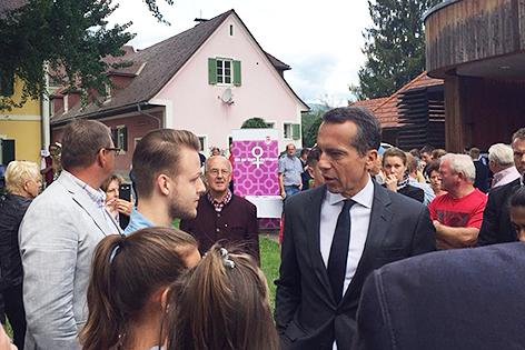 Christian Kern auf Wahlkampftour