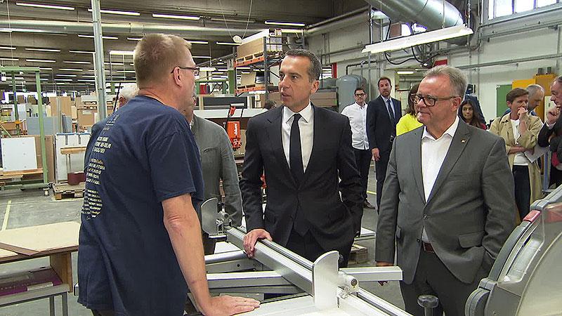 Christian Kern auf Wahlkampf-Tour in Neudörfl - burgenland.ORF.at