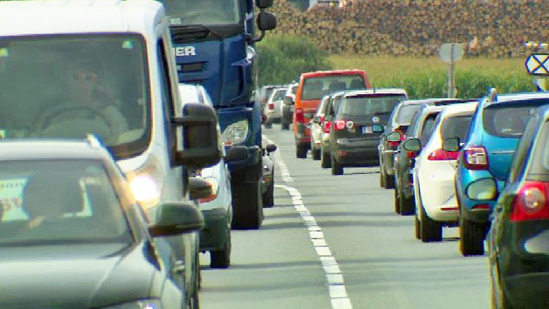 Verkehr auf der Zillertalstraße