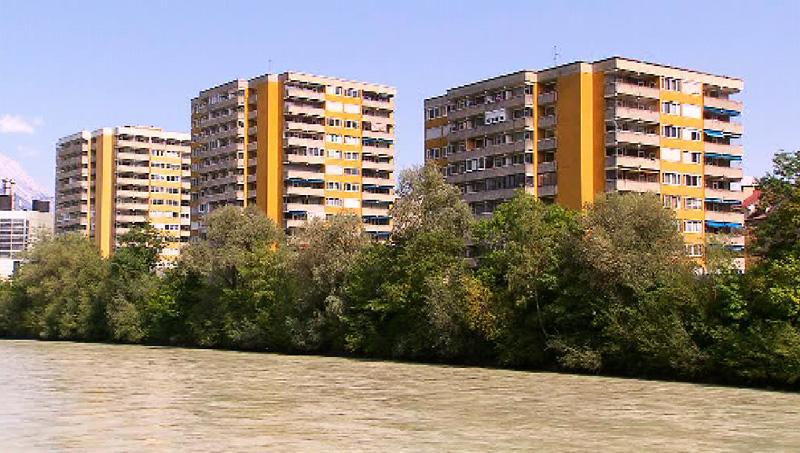 Hochhäuser am Innrain