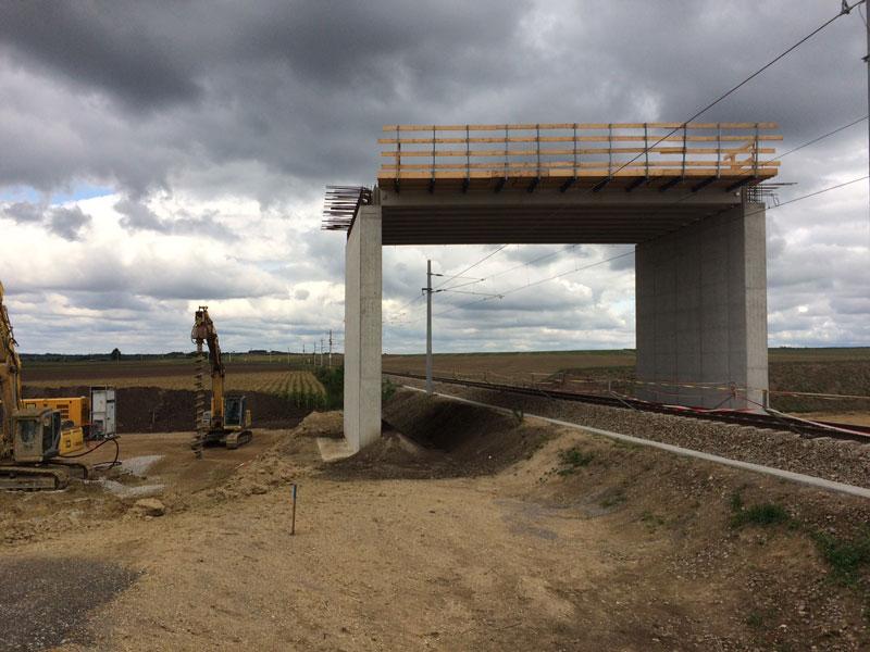 Brücke S3 Bau