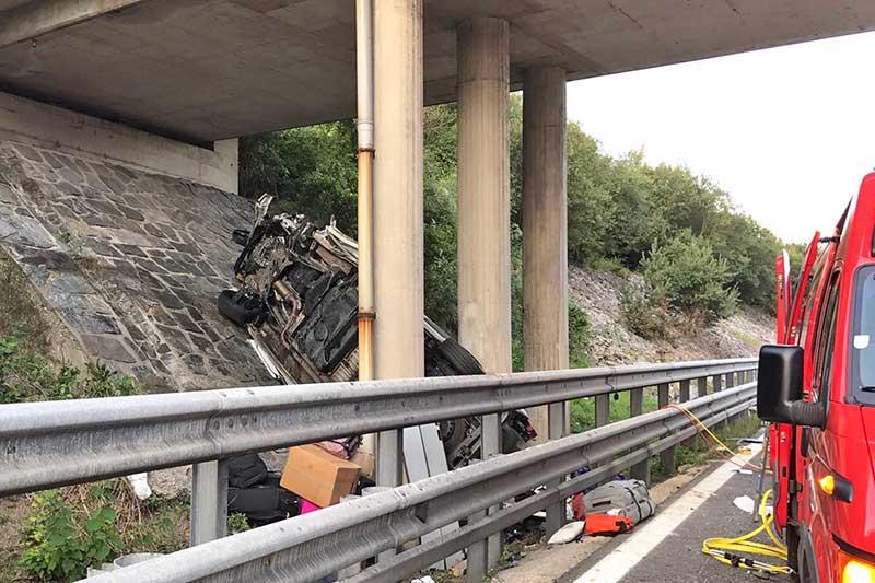Mehrere Tote Verkehrsunfall A21