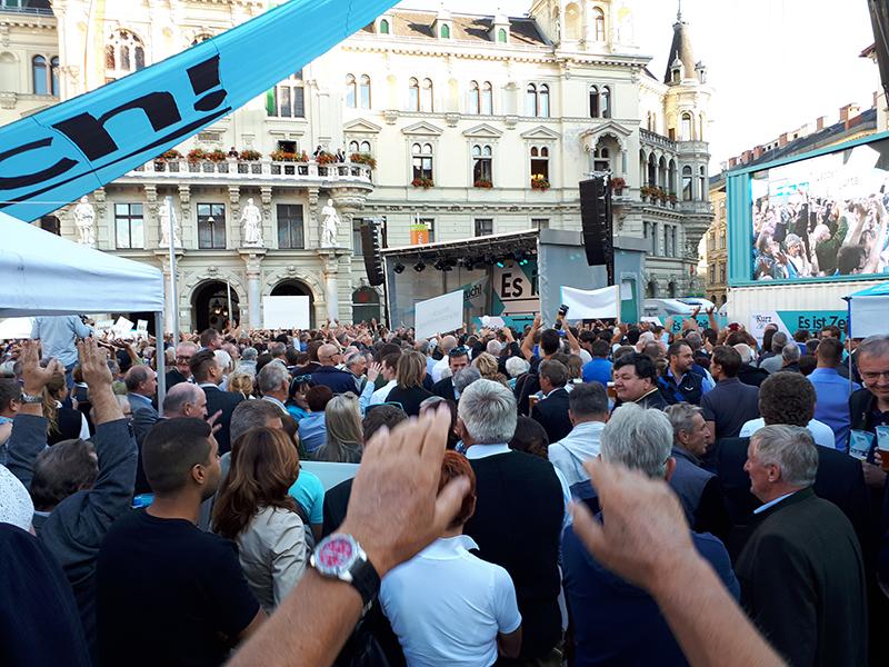 ÖVP-Wahlkampfauftakt auf dem Grazer Hauptplatz