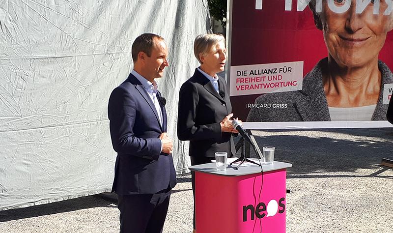 NEOS-Wahlkampfauftakt in Graz