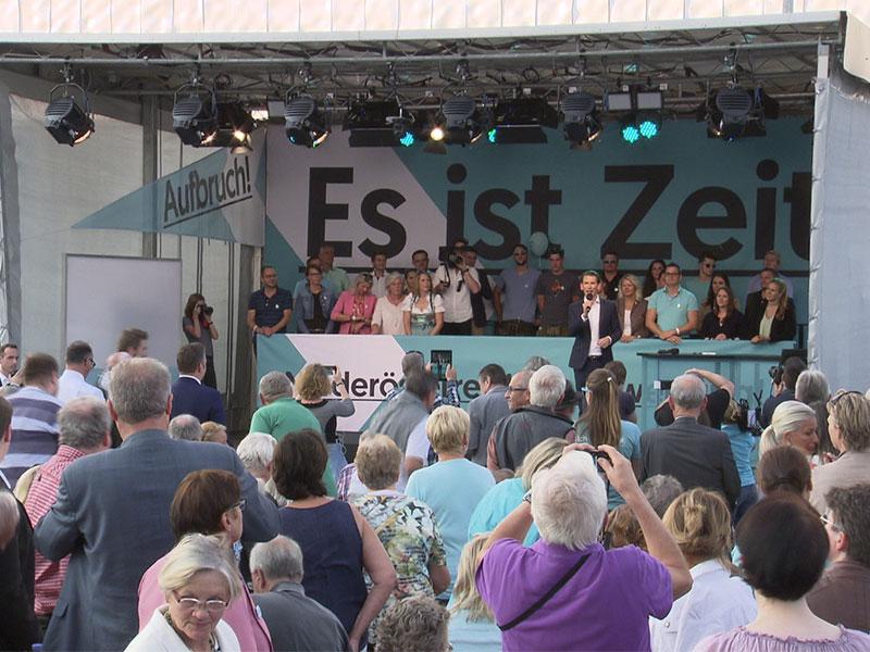 Wahlkampftour Sebastian Kurz St. Pölten