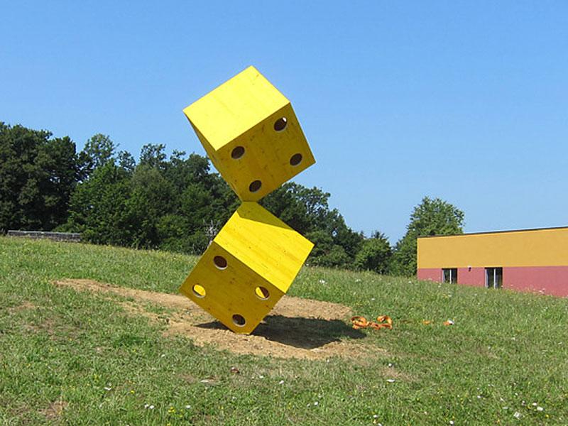 Land Art Eisenberg - verschiedene Skulpturen