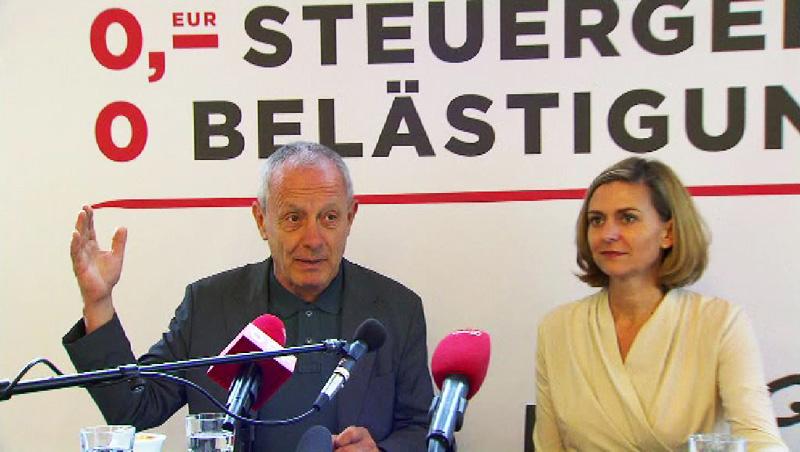 Peter Pilz und Maria Chelucci