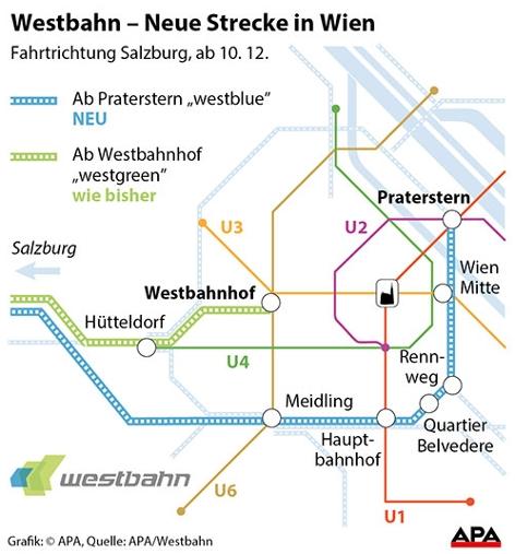 Westbahn Neue Strecken Fahrplanwechsel Westblue Westgreen