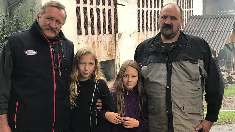 Brand Stall Obermühlbach Bauer Onkel Kinder