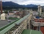 Blick auf die Halleiner Zellstofffabrik (Zellulosefabrik, Hallein Papier)