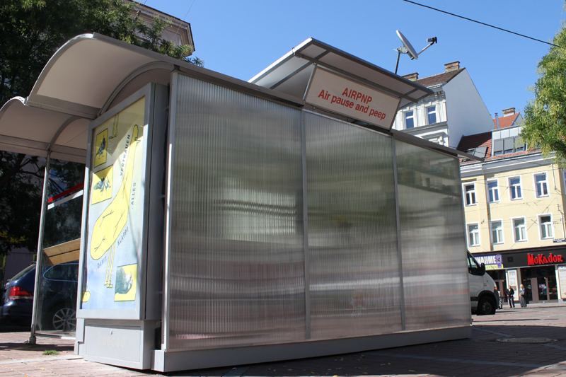 airpnp Kunstprojekt Barbara ungepflegt