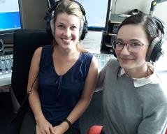 Lehrerinnen des Slowakischunterrichts für Kinder, Simona Kajtazová und Claudia Hovanaková
