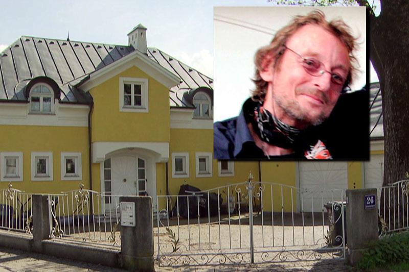 Villa von Roland Krenn mit Foto des Getöteten